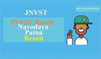JNVST 5th Results 2020 Bihar Patna