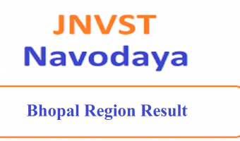 JNVST 6th Class Result 2020 Bhopal Region